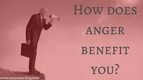 How does anger benefit you? Blog post man screaming in megaphone