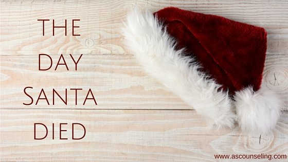 A blog post about how parents can help kids working through feelings when finding out about Santa